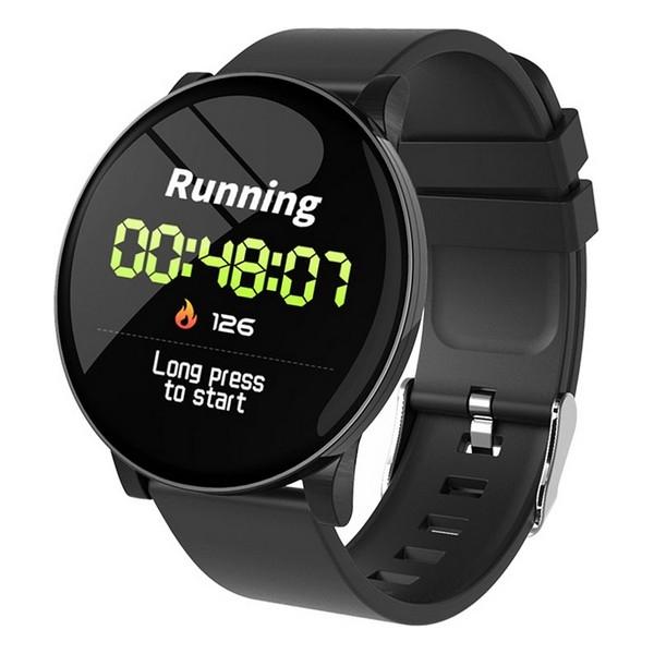 "Smartwatch Round HR 1,3"" OLED 170 mAh Bluetooth 4.0 Black!"